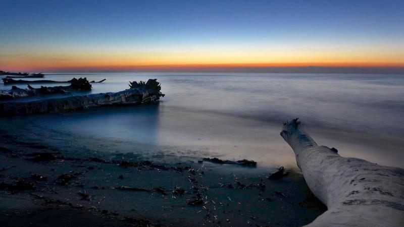 Sommerferien 2013 Korsika / Morgenstimmung am Strand