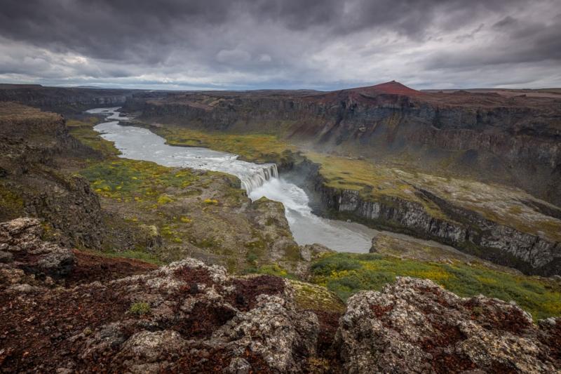Hafragilsfoss Wasserfall
