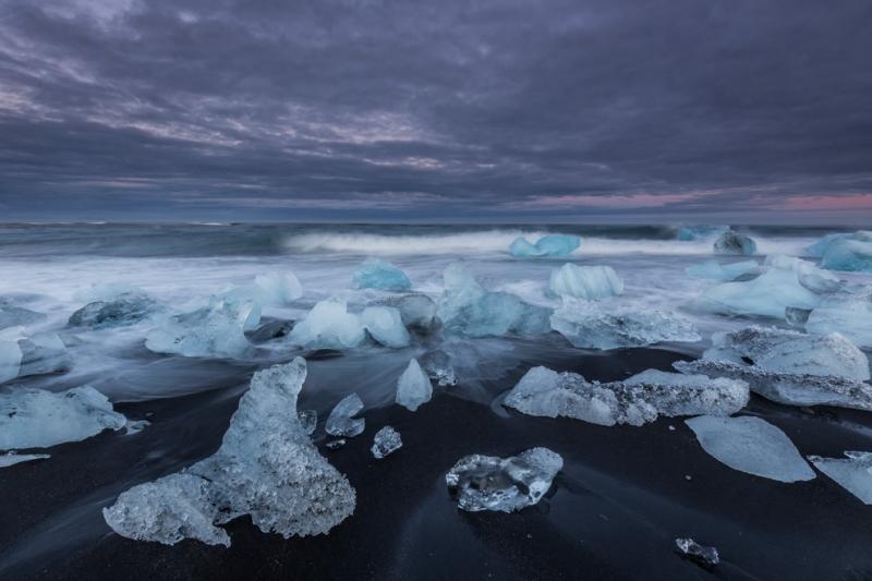 Lagune Jökulsarlon, Gletscher