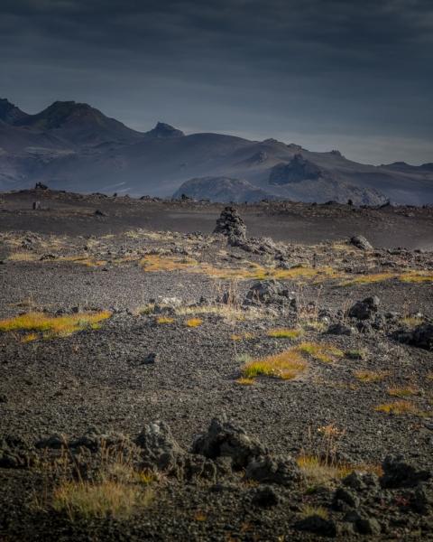 Hochland bei Hekla Vulkan