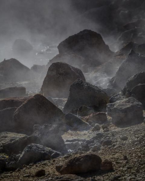 Reykjanes Peninsula / Seltun Schlammlöcher